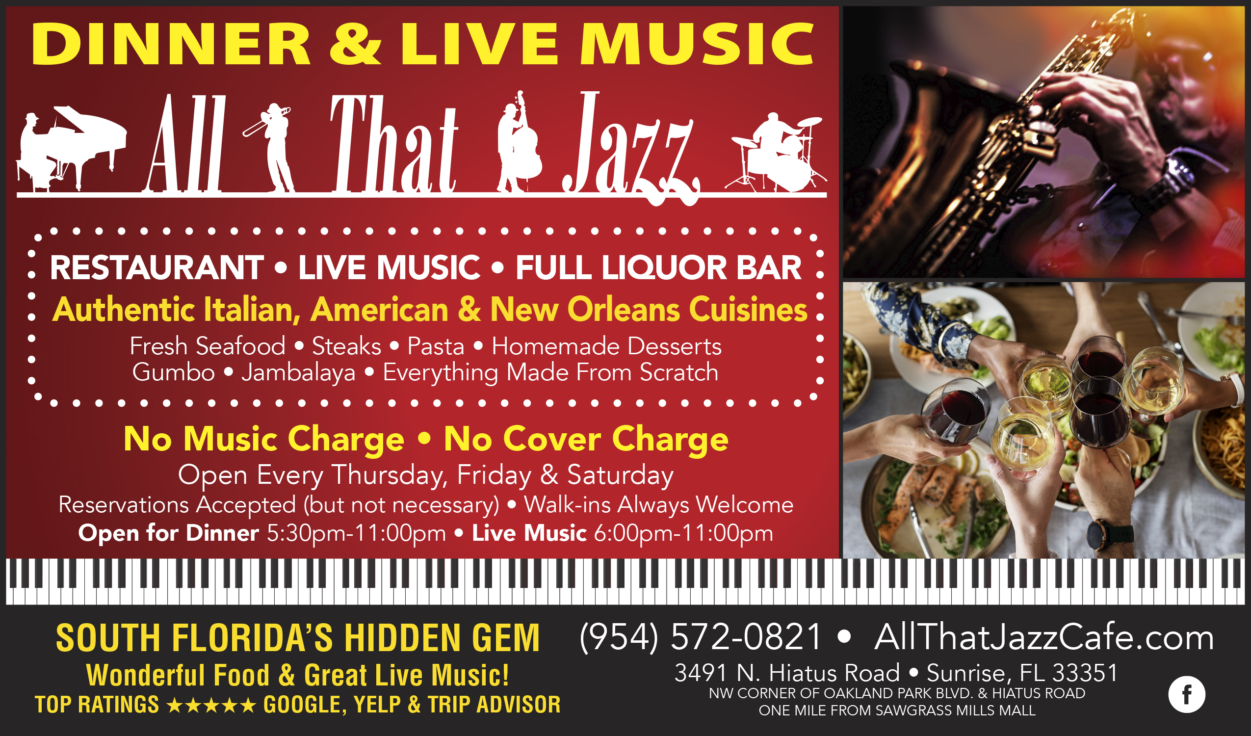 All That Jazz Cafe in Sunrise South Florida